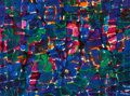 Post-War & Contemporary:Abstract Expressionism, SEYMOUR BOARDMAN (American, 1921-2005). Untitled. Oil onmasonite. 15 x 20 inches (38.1 x 50.8 cm). Signed lower right: ...