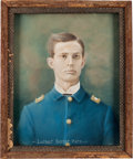 Western Expansion:Cowboy, Little Big Horn: Portrait of 7th Cavalry Lieutenant....