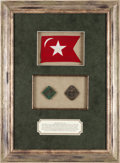 Miscellaneous, Charleston Slave Hire Badges: Two Nice Examples in a BeautifulFramed Display....