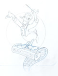 Animation Art:Production Drawing, Donald Duck VHS Box Illustration Concept Sketch (Walt Disney,1990s)....