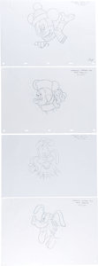 Animation Art:Production Drawing, Disney Christmas Window Ad Mickey Mouse and Friends IllustrationGroup (Walt Disney, 2003).... (Total: 11 Original Art)