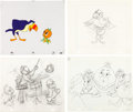 Animation Art:Production Drawing, Orange Bird and the Nutrition Bandwagon Animation Drawingand Production Cel Group (Walt Disney, c. 1980).... (Total: 48Original Art)