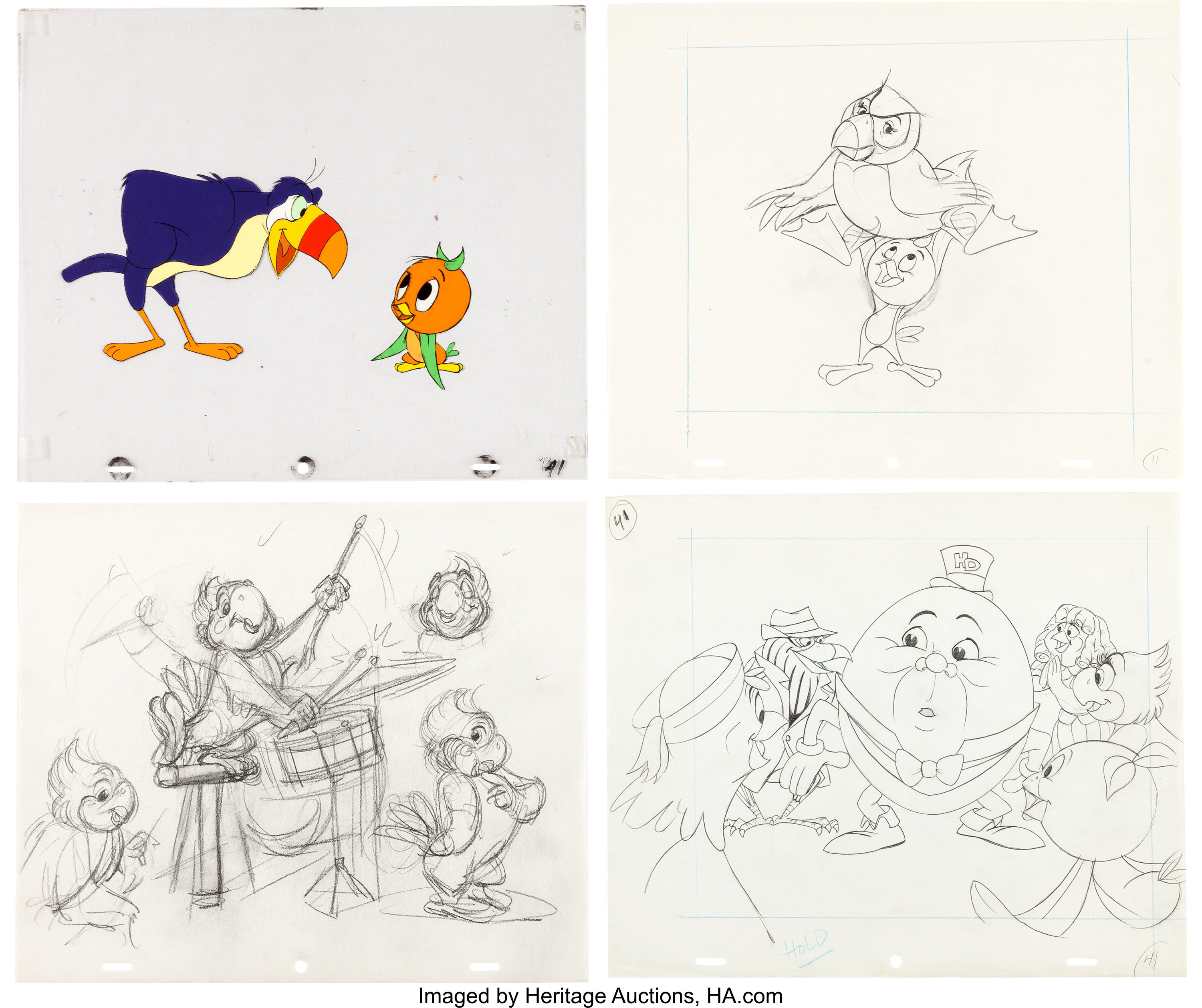 Orange Bird And The Nutrition Bandwagon Animation Drawing And Lot 13224 Heritage Auctions