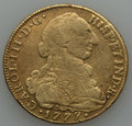 Colombia, Colombia: Charles III gold 8 Escudos 1777 NR-JJ F/VF Details(Damaged Fields),...