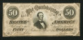 Confederate Notes:1864 Issues, T66 $50 1864 PF-14. Cr. UNL.. ...