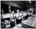 Autographs:Celebrities, Apollo 13 Mission Control Photo Signed by Three....