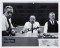 "Autographs:Celebrities, NASA Mission Control ""Red, White, and Blue"" Flight Directors SignedPhoto. ..."