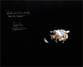 Autographs:Celebrities, James Lovell Signed Large Apollo 13 Damaged Service Module ColorPhoto. ...