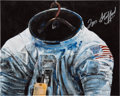Autographs:Celebrities, Tom Stafford Signed Color Photo of Spacesuit Painting Signed byArtist Ron Woods. ...