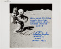 Autographs:Celebrities, Charlie Duke Signed Lunar Surface NASA Photo Originally from hisPersonal Collection, Signed and Certified. ...