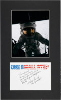 "Autographs:Celebrities, Charles Conrad Handwritten and Signed Apollo 12 ""First Words on theMoon"" Quote in a Matted Display...."