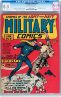 Golden Age (1938-1955):War, Military Comics #6 (Quality, 1942) CGC VF+ 8.5 Off-white to whitepages....