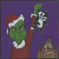 Mainstream Illustration, Canvas 022. Untitled--Grinch. Soft pastel. 12 x 12 in.. ...