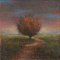 Paintings, Canvas 077. The Way Home. Oil on canvas. 12 x 12 in.. ...