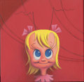 Mainstream Illustration, Canvas 044. Cindy Lou Who. Acrylic on canvas. 12 x 12 in.....