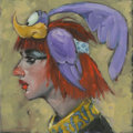 Mainstream Illustration, Canvas 085. RR Cleo. Acrylic on canvas. 12 x 12 in.. ...