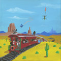 Mainstream Illustration, Canvas 066. Looney Belle. Acrylic on canvas. 12 x 12 in.....