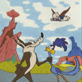 Mainstream Illustration, Canvas 055. When Pigs Fly. Watercolor. 12 x 12 in.. ...