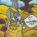Mainstream Illustration, Canvas 132. In a Hare-y Situation. Acrylic on canvas. 12 x12 in.. ...