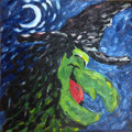 Mainstream Illustration, Canvas 155. Untitled. Acrylic on canvas. 12 x 12 in.. ...