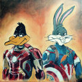 Mainstream Illustration, Canvas 165. Avengers: Age of Looney Tunes. Acrylic oncanvas. 12 x 12 in.. ...