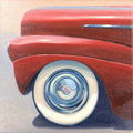 Mainstream Illustration, Canvas 173. Red Ford. Acrylic on canvas. 12 x 12 in.. ...