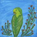 Mainstream Illustration, Canvas 153. Bird in Repose. Acrylic on canvas. 12 x 12 in.....