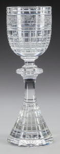Art Glass:Other , A ST. LOUIS CUT-GLASS MAZDA PRESIDENT'S CLUB CHALICE,Saint-Louis-lès-Bitche, France, circa 1994. Marks: ST. LOUIS,CRYSTA...
