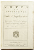 Books:Pamphlets & Tracts, Votes and Proceedings of the House of Representatives of theProvince of Pennsylvania Beginning The 14th Day of October1707...
