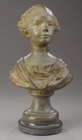 19th Century European, A French Terracotta Bust of a Young Girl. . Late 18th - Early 19thCentury. Terracotta. 20-1/2 inches (52.1 cm). ...