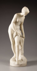Marble, Venus Bathing. . J. O. Pugi, Italian. 19th - 20th Century. Marble.25 inches high, 7 inches wide. Signed and inscribed o...