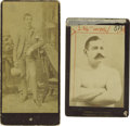 Boxing Collectibles:Memorabilia, Circa 1890 Ike O'Neil Weir and John L. Sullivan Cabinet Photographs. The Spider was brought to Buffalo by some sporting men ...