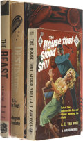 Books:Fiction, A. E. van Vogt: Lot of Three Books. ... (Total: 3 Items)