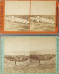 Photography:Stereo Cards, TWO STEREOVIEWS OF THE BLACK HILLS. Taken by Pollock & Boyden of Deadwood, and F.J. Haynes, these stereo cards offer two dis...