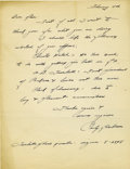 Football Collectibles:Others, 1952 Curly Lambeau Handwritten Signed Letter. The heart and soul of the early Green Bay Packers, who provides his name to ...