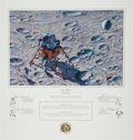 "Explorers:Space Exploration, Alan Bean Signed Limited Edition ""In Flight"" Print, also Signed bythe Apollo 14 Crew, #21/850. ..."