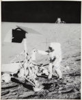 Autographs:Celebrities, Apollo 12 Crew-Signed Large Lunar Surface Photo. ...