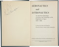 Explorers:Space Exploration, Neil Armstrong and Milt Thompson Signed Book Aeronautics andAstronautics, with JSA LOA. ... (Total: 2 )