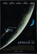 Autographs:Celebrities, Apollo 13 Film One Sheet Poster Signed by James Lovell....