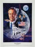 "Autographs:Celebrities, Alan Shepard Signed Limited Edition ""First American in Space""Limited Edition Color Lithograph, #933/2000. ..."
