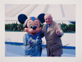 Autographs:Celebrities, Neil Armstrong Color Photo Signed as Mickey Mouse....