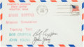 Explorers:Space Exploration, Space Shuttle Columbia (STS-1) Crew-Signed Mission Simulation Cover. ...