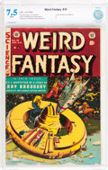 Golden Age (1938-1955):Science Fiction, Weird Fantasy #18 (EC, 1953) CBCS VF- 7.5 White pages....