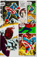 Original Comic Art:Miscellaneous, Captain Marvel #17 Page 9 Color Guide Production Art(Marvel, 1969)....