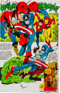 Original Comic Art:Miscellaneous, Captain Marvel #17 Page 6 Color Guide Production Art(Marvel, 1969)....