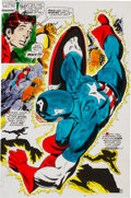 Original Comic Art:Miscellaneous, Captain Marvel #17 Page 10 Color Guide Production Art(Marvel, 1969)....