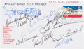 Autographs:Celebrities, Apollo-Soyuz Test Project Launch Cover Signed by all Ten Members ofthe American Crew and Support Team. ...