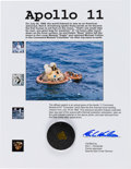Explorers:Space Exploration, Apollo 11 Flown Kapton Foil Segment on Presentation Certificate....