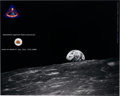 Explorers:Space Exploration, Apollo 8 Flown Heat Shield Fragment on Photo PresentationCertificate. ...