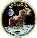 "Explorers:Space Exploration, Apollo 11 Embroidered ""Bio-Garment"" Mission Insignia Crew Patch Originally from the Personal Collection of Mission Command Mod..."